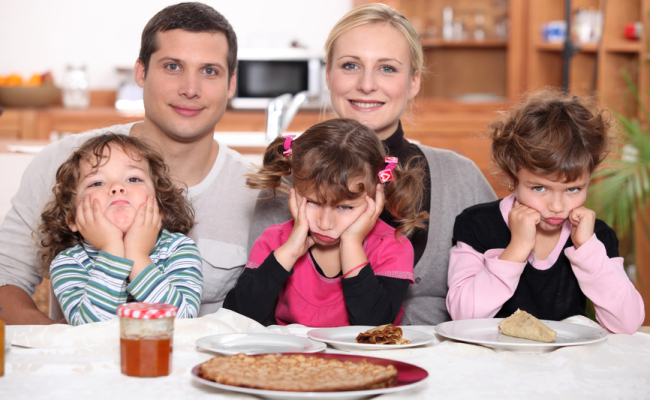 stockfresh_2193910_Parenting sulky children with pancakes_sizeS1